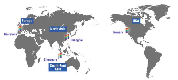 VIPColor worldwide locations